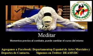 DEAMYDC MEDITAR ANTES DE COMBATIR